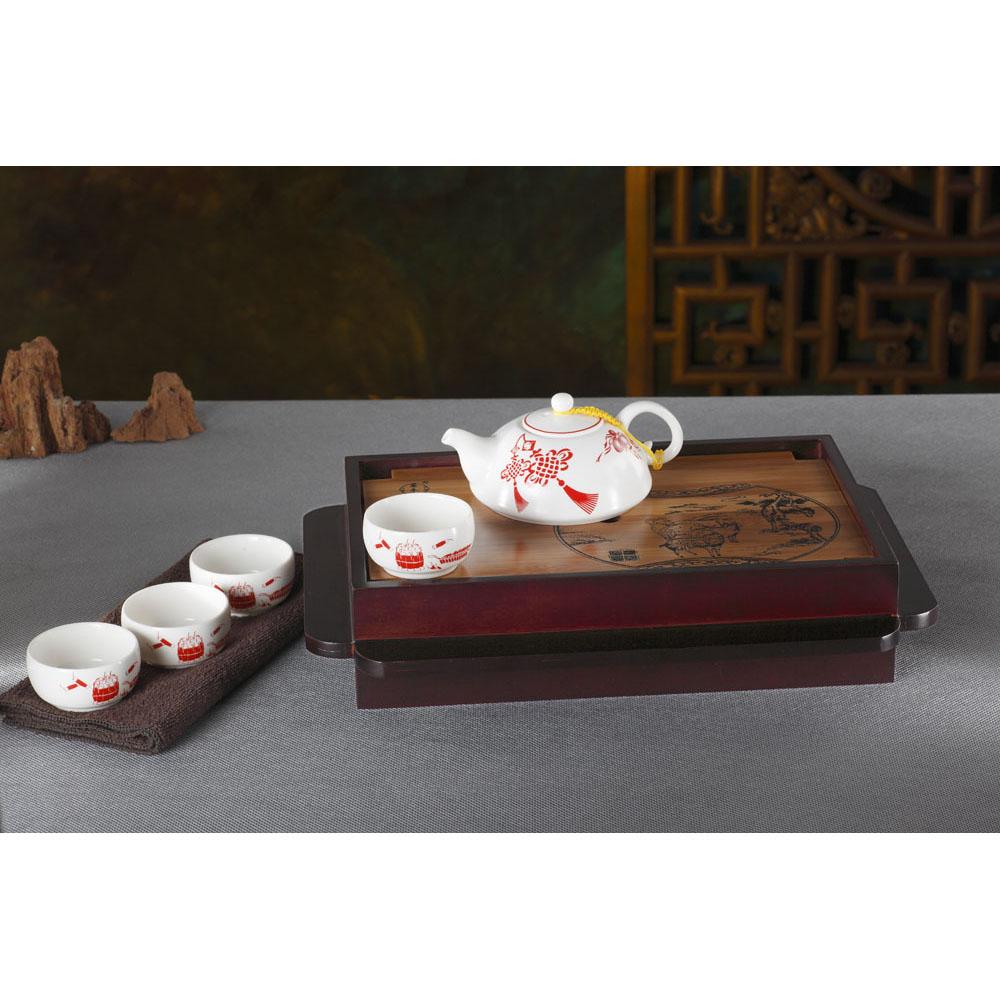 三羊开陶瓷茶具 礼盒包装