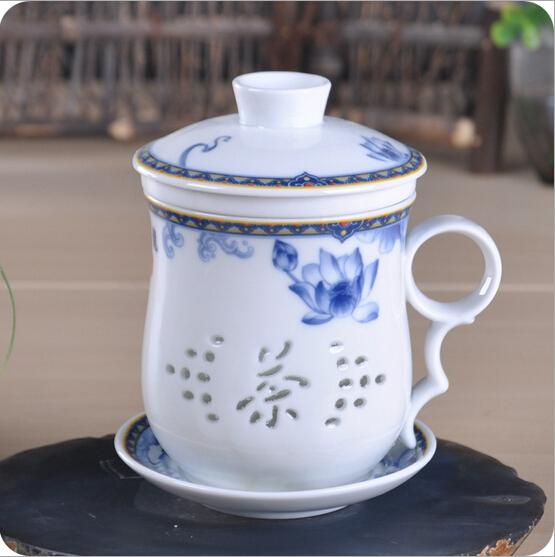 青花瓷办公茶杯