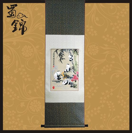 蜀锦国宝大熊猫