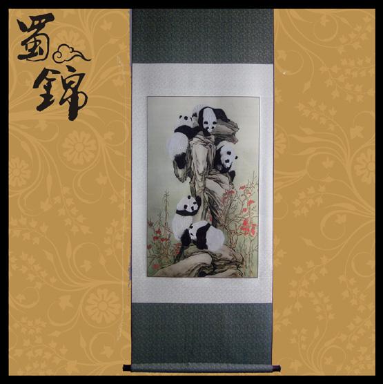 蜀锦熊猫攀登