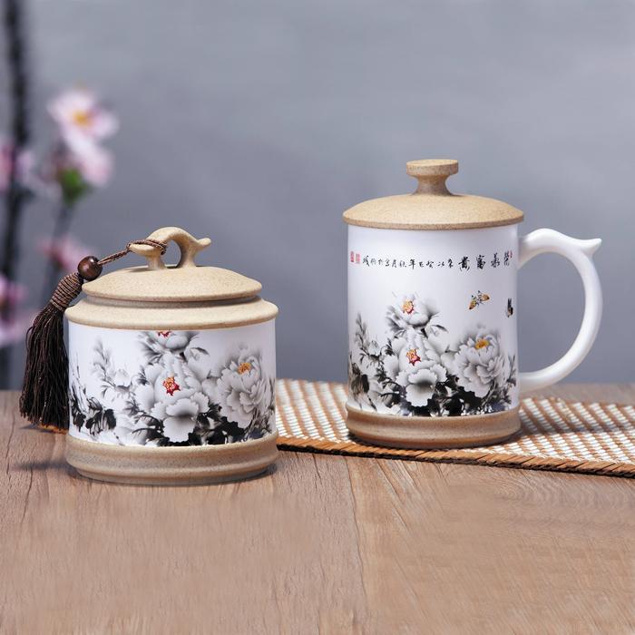 陶瓷茶叶罐办公杯商务球王会app网址多少