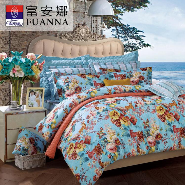富安娜床上四件套 新清风雅颂