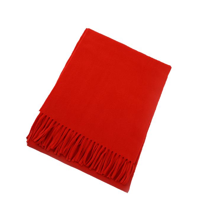 成都公司年会大红色围巾定制logo